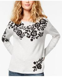 INC International Concepts - Embroidered Sweatshirt - Lyst