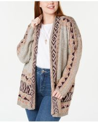 Style & Co. - Plus Size Jacquard Open Cardigan, Created For Macy's - Lyst