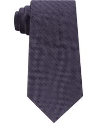 Michael Kors - Men's Herringbone Twill Panel Silk Tie - Lyst