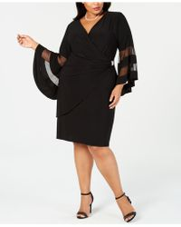 R & M Richards - Plus Size Illusion Bell-sleeve Dress - Lyst