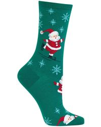 Hot Sox - Skating Santas Crew Socks - Lyst