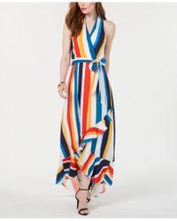 Julia Jordan - Striped Halter Maxi Sundress - Lyst