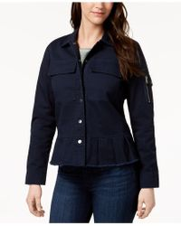 Style & Co. | Cotton Peplum Utility Jacket, Created For Macy's | Lyst