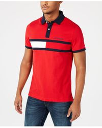 311c75fa1c1 Tommy Hilfiger Stevans Custom Fit Polo in Red for Men - Lyst