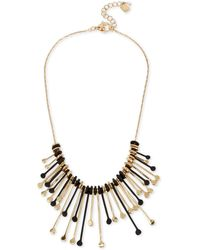 "Robert Lee Morris - Two-tone Multi-stick Statement Necklace, 17"" + 2"" Extender - Lyst"