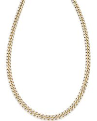 Macy's | Cuban Chain Link Necklace In 18k Gold Over Sterling Silver | Lyst
