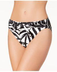 Carmen Marc Valvo - Printed Tie-front Bikini Top - Lyst