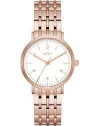 DKNY - Minetta Rose Gold Tone Women's Watch - Lyst