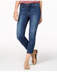 Style & Co. - Lace-up Capri Jeans, Created For Macy's - Lyst