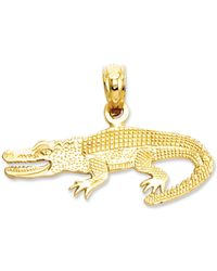 Macy's - 14k Gold Charm, Textured Alligator Charm - Lyst