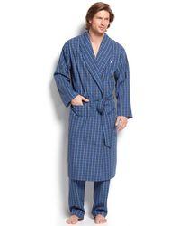 Polo Ralph Lauren - Sleepwear, Harwich Plaid Woven Robe - Lyst