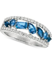 Le Vian | Sapphire (1 Ct. T.w.) And Diamond (3/8 Ct. T.w.) Ring In 14k White Gold | Lyst