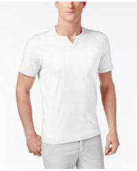 INC International Concepts - Men's Soft Touch Split-neck T-shirt - Lyst