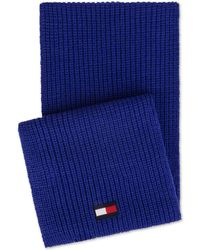 Tommy Hilfiger - Ribbed-knit Logo Scarf, Created For Macy's - Lyst