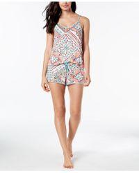 26c38d2c2e Linea Donatella - Cateline Patch Lace-keyhole Pajama Set - Lyst