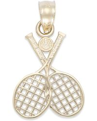 Macy's - Double Tennis Racquet Charm In 14k Gold - Lyst