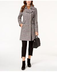 Vince Camuto - Wing-collar Military Coat - Lyst