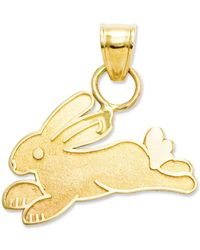 Macy's - 14k Gold Charm, Rabbit Charm - Lyst