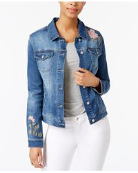 Vintage America - Embroidered Denim Jacket - Lyst