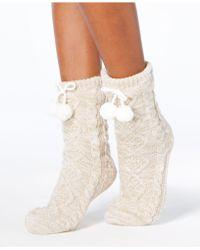 UGG - Pom Pom Fleece Socks - Lyst