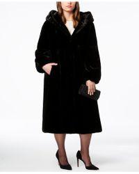 Jones New York - Plus Size Hooded Faux-fur Maxi Coat - Lyst