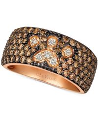 Le Vian - ® Chocolate & Nudetm Diamond Paw Print Ring (2-1/3 Ct. T.w.) In 14k Rose Gold - Lyst