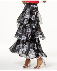 INC International Concepts | I.n.c. Tiered Floral-print Skirt, Created For Macy's | Lyst