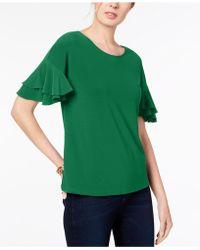 INC International Concepts - I.n.c. Ruffled-sleeve Top, Created For Macy's - Lyst