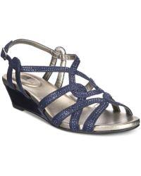 Bandolino - Galtelli Embellished Slingback Wedge Sandals - Lyst