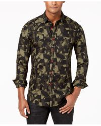INC International Concepts - Camo Shirt, Created For Macy's - Lyst