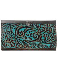 Patricia Nash - Cauchy Turquoise Tooled Leather Wallet - Lyst
