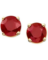 Macy's | Ruby Stud Earrings In 14k Gold (1 Ct. T.w.) | Lyst