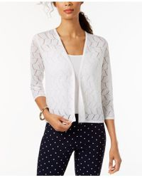 Charter Club - Cropped 3/4-sleeve Cardigan, Created For Macy's - Lyst