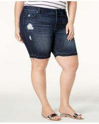 Celebrity Pink | Plus Size Distressed Bermuda Shorts | Lyst