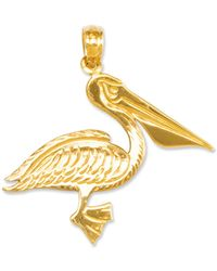 Macy's - 14k Gold Charm, Pelican Charm - Lyst