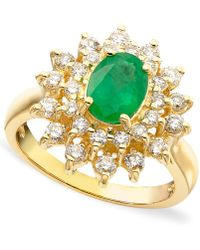 Effy Collection - Emerald (1-1/8 Ct. T.w.) And Diamond (3/4 Ct. T.w.) Ring In 14k Gold - Lyst
