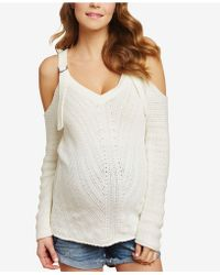Jessica Simpson - Maternity Cold-shoulder Sweater - Lyst