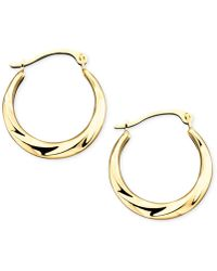 Macy's - 10k Gold Small Polished Swirl Hoop Earrings - Lyst