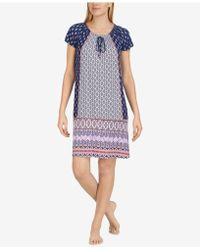 Ellen Tracy | Off-the-shoulder Printed Chemise | Lyst