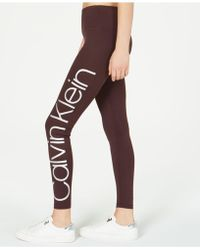 f6abcddc00fcf Lyst - Calvin Klein Performance Printed Leggings in Purple