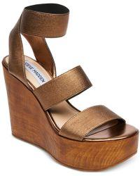 Steve Madden - Blondie Wedge Sandals - Lyst