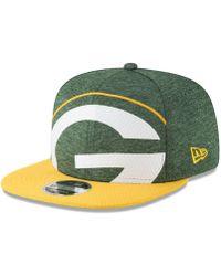 b0821c243 Lyst - Ktz Green Bay Packers Meltone 9Fifty Snapback Cap in Gray for Men