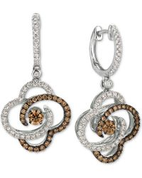 Le Vian - Diamond Clover Drop Earrings (1-1/4 Ct. T.w.) In 14k White Gold - Lyst