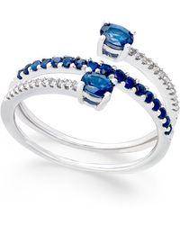 macyu0027s sapphire 34 ct tw and diamond 1