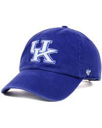 best website 8ca89 9c030 47 Brand - Kentucky Wildcats Ncaa Clean-up Cap - Lyst