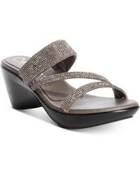 Callisto | Raya Embellished Wedge Sandals | Lyst
