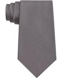 Calvin Klein - Tie, Silver Spun Solid - Lyst