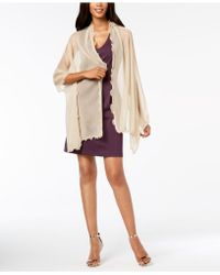 INC International Concepts - I.n.c. Ruffle-edge Metallic Evening Wrap, Created For Macy's - Lyst