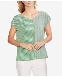 Vince Camuto - Linear Mix Print Top - Lyst