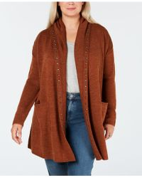 Style & Co. - Plus Size Studded Open Cardigan, Created For Macy's - Lyst